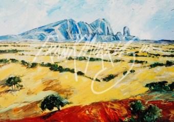 (YPK154) 79 x 100 cm Looking Back at Mt Sonder $400