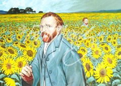 (Y543) Vincents in a Sunflower Field 68 x 91 cm $350
