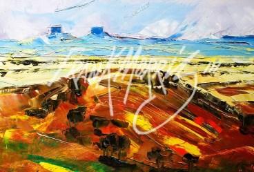 (YPK140) Mt Beale Range 26 x 30 cm SOLD
