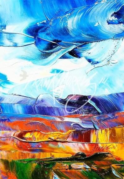 (YPK93) High Winds 17 x 12 cm $40