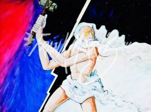 (Y635) Thor 91 x 121 cm $350