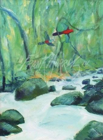 (XY933) Forest Stream 20x15 cm $150