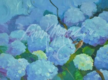 (Y451) Summer Blues 61x80 cm $350