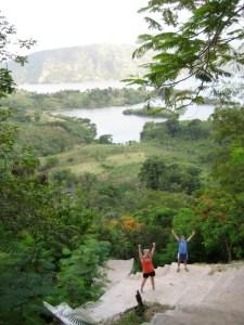 Kelsey and Ian running in Haiti