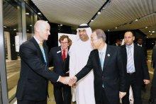 Frank with UN Secretary general Ban Ki Moon and Dr. Sultan Al Jaber 2012