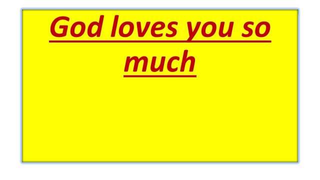 Frank Wyatt-We are loved by God