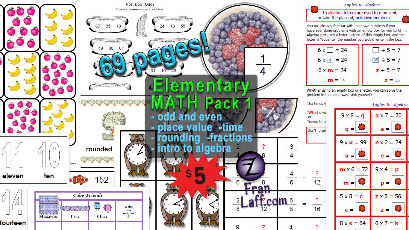 Elementary Math Pack 1 Franlaff