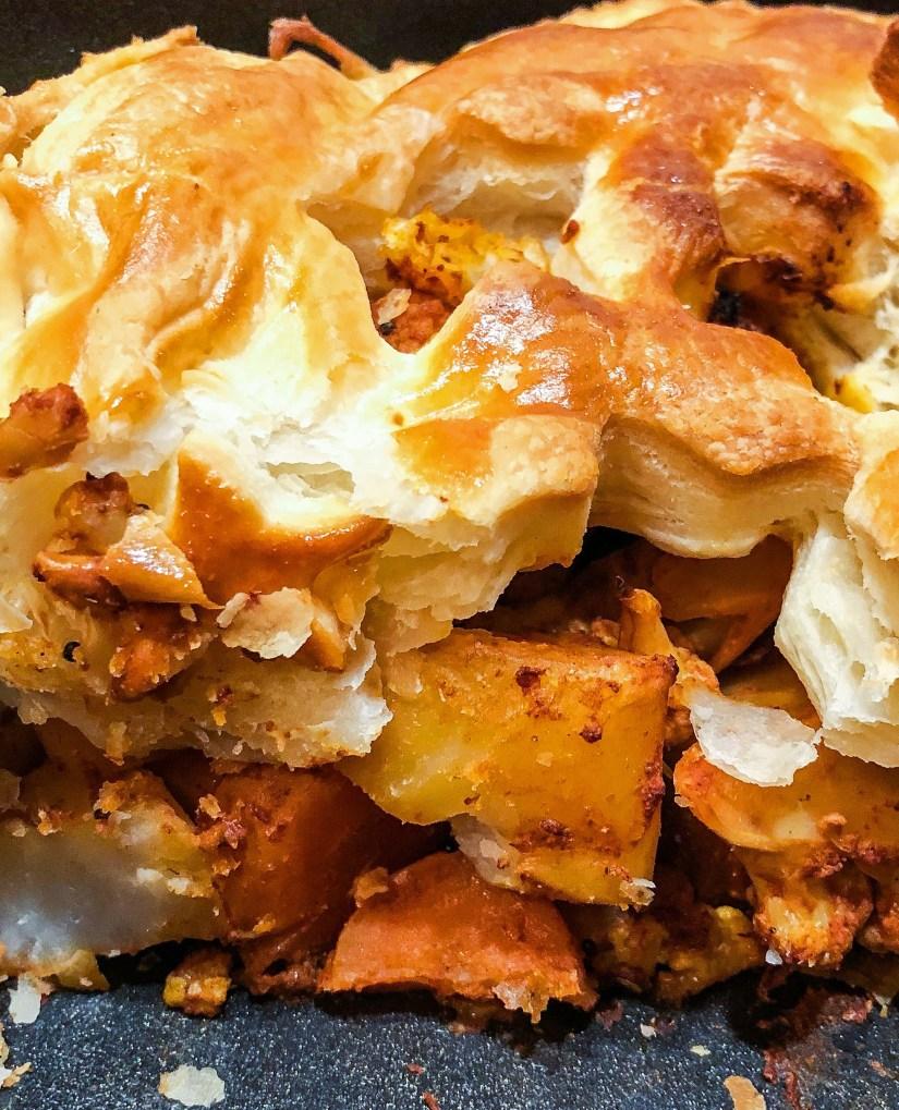 Tandoori roast veg pie