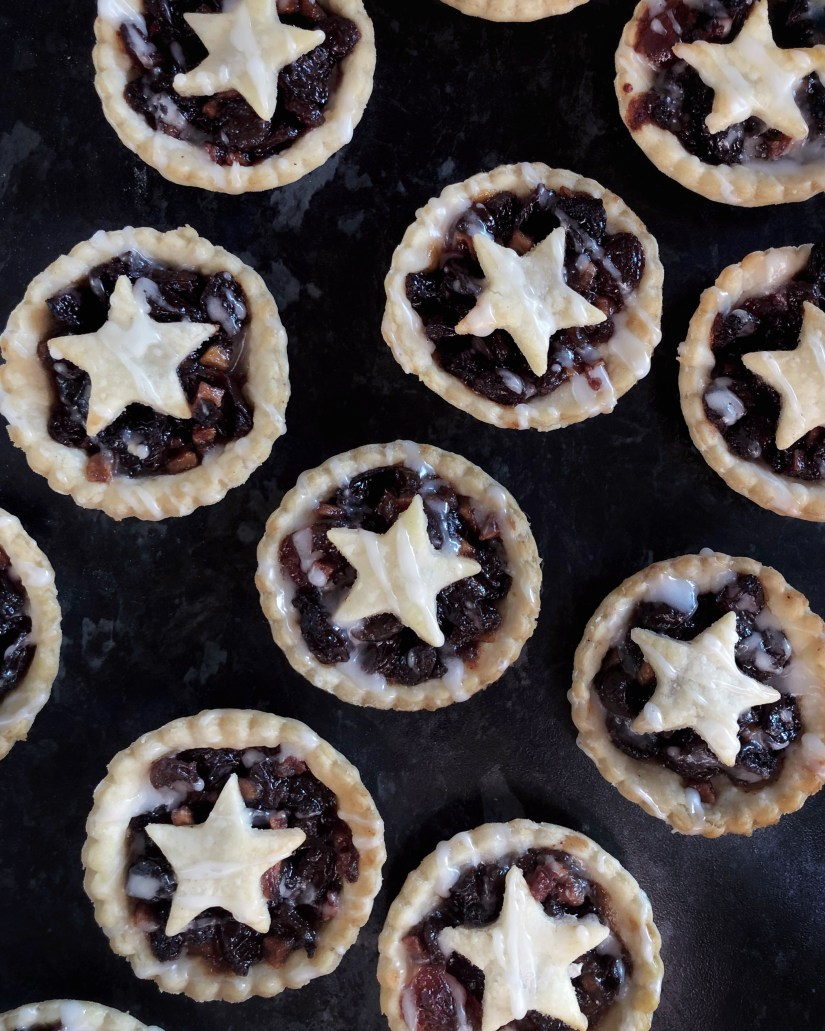 Ready to eat starry mince pies