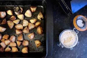 Mini roast potatoes with herbs and fleur de sal
