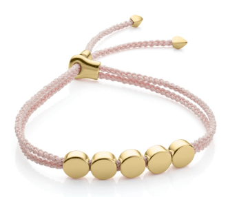 Monika Vinader Linear Bead Friendship Bracelet