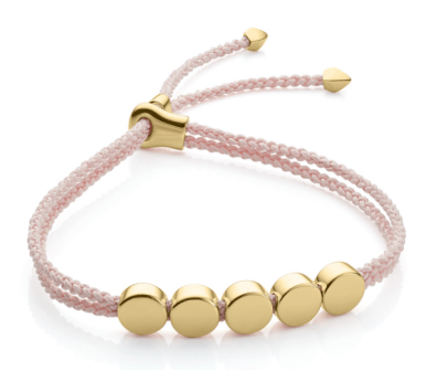 Monika Vinader Linear Bead Friendship Bracelet
