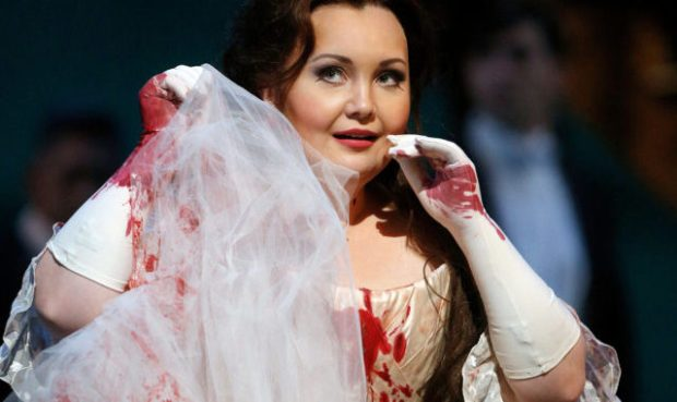 Albina Shagimuratova as Lucia in the Metropolitan Opera production. (Photo by Cory Weaver)