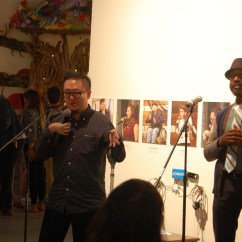 Asian American Steve Lee performing at the Opening Night of DIS/PLAY, with ASL interpretation