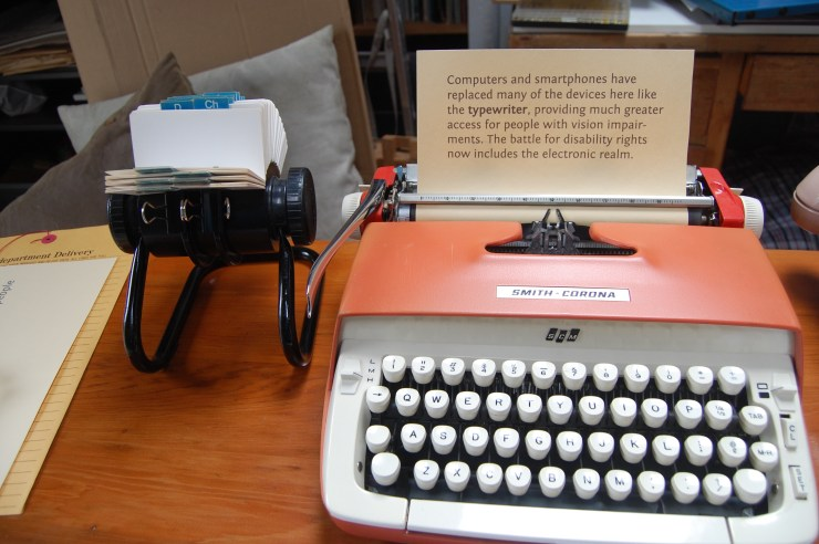 "A 1970s typewriter to highlight how far accessibility has come, though there is still ""Room for improvement"""