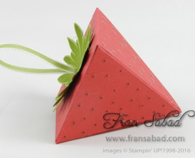 Pyramid Box strawberry side