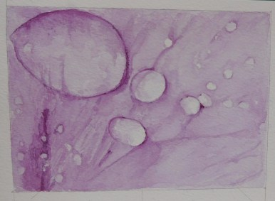 Original Watercolour of water droplets