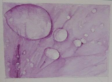 Original Watercolour of water droplets