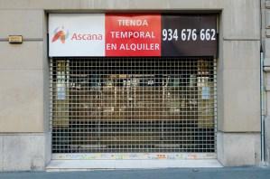 Tienda temporal en alquiler, Barcelona