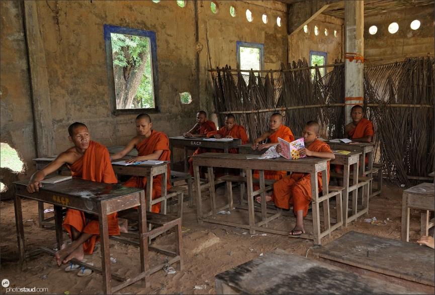 Derelict Bakong Temple school, Angkor, Cambodia