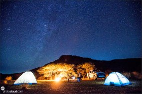 Camping under the milky way, Sudan