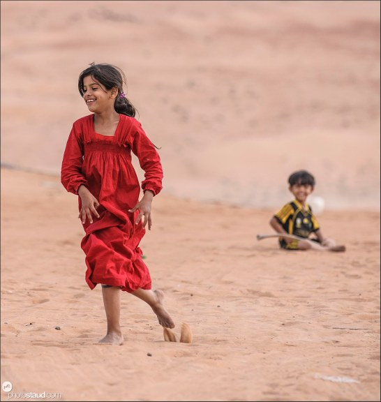Bedouin children in Wahiba Sands, Al Sharqiya, Oman