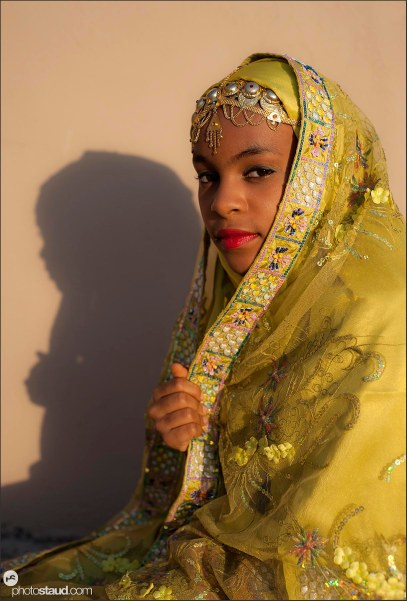 Young girl in traditional costume, Oman