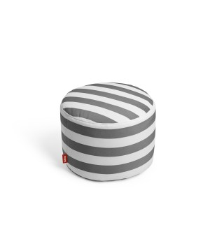 Pouf exterieur Point Outdoor - rayures anthracites