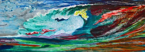 Uproarious, 2016, 80 x 220 cm, Acryl auf MDF