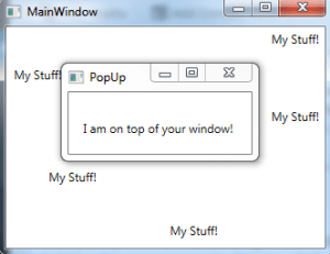 Main window has focus but the pop-up remains on top