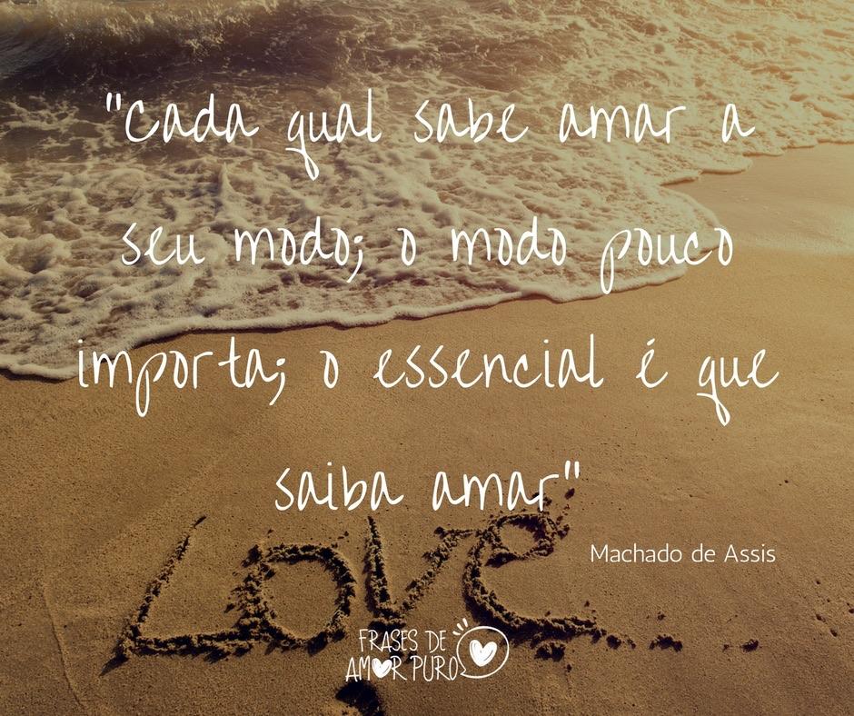 Cada Qual Sabe Amar A Seu Modo Frases De Amor Puro
