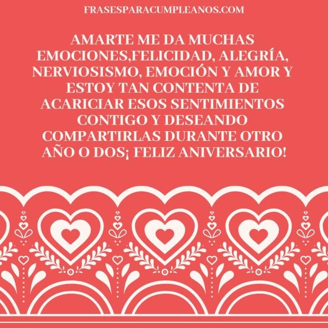 Tarjetas con frases de felicitaciones de aniversario de 1 año de noviazgo