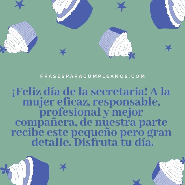 Tarjetas para felicitar el día de la secretaria