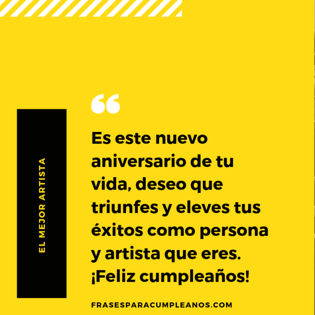 Tarjetas de Felicitaciones de cumpleaños para un artista