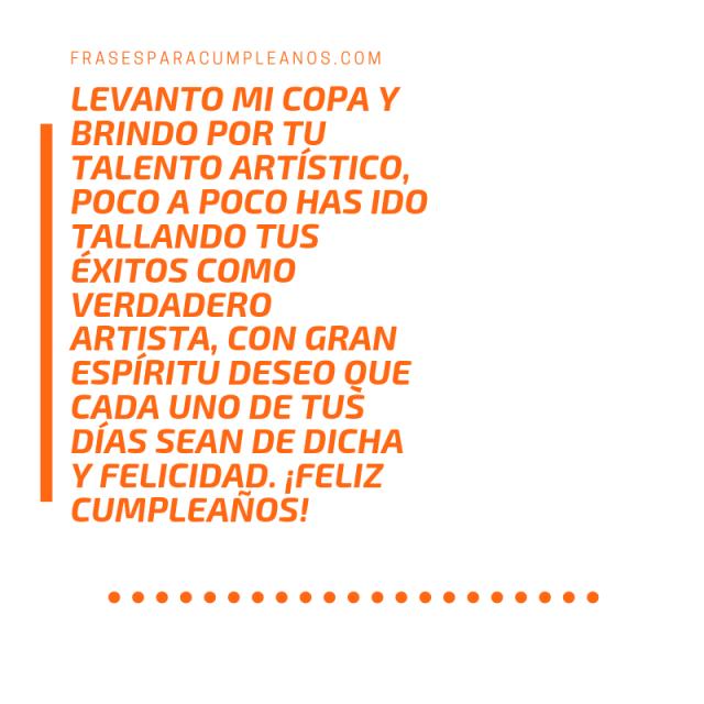 Tarjetas de Feliz cumpleaños para un artista