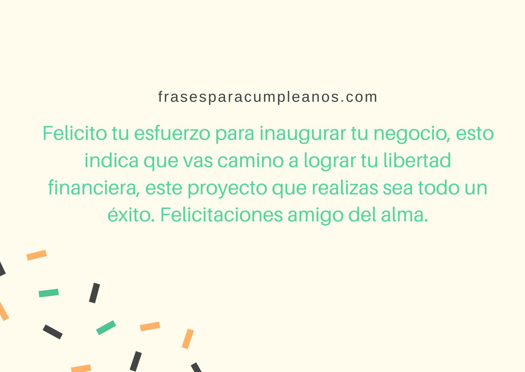 foto de Mensajes de felicitaciones inauguración de comercio – FrasesCumpleaños