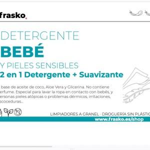 Detergente Bio a granel- especial para bébés y pieles sensibles