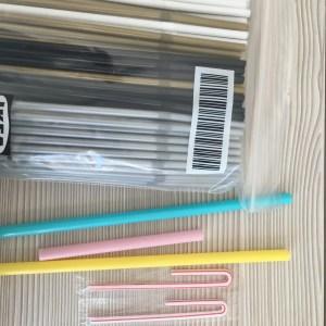 Pack de pajitas reutilizables de acero inoxidable 316 (forma doblada) con cepillo