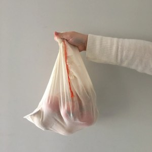 2 bolsas gasa de algodón orgánico reutilizables