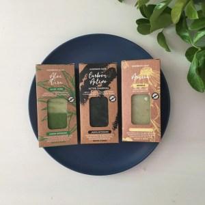 Jabón natural con carbón activo y base de aceite de oliva- elaboración artesanal
