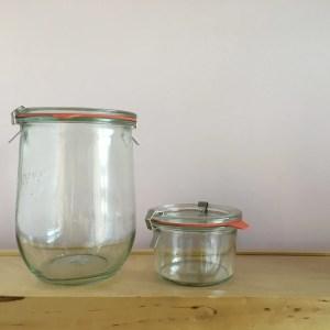 Tarros de vidrio herméticos y recambios