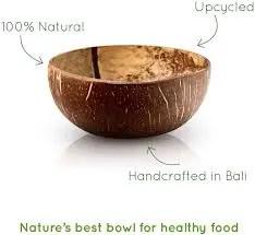 Bol de coco natural- hecho a mano BAMBAW