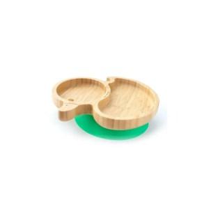 Plato de bambú con ventosa en forma de pato ECO RASCALS