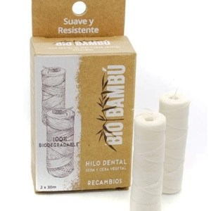 Recambios hilo dental biodegradable de seda natural BIOBAMBÚ