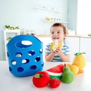 Juguete sostenible: Cesta de frutas blanditas HAPE