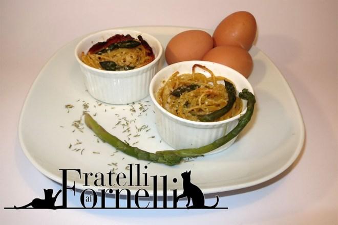 nidi spaghetti carbonara di asparagi