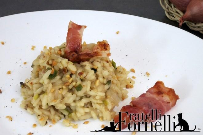 riso porri bacon nocciole rice hazelnut