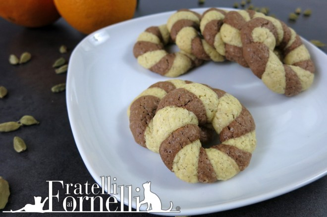 spiced twisted cookies