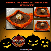 Halloween Pizza & Brownie Special! Limited Edition Brownies!