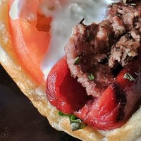 Grilled Greek Lamb Hot Dog – New Culinary Creation at Frato's!